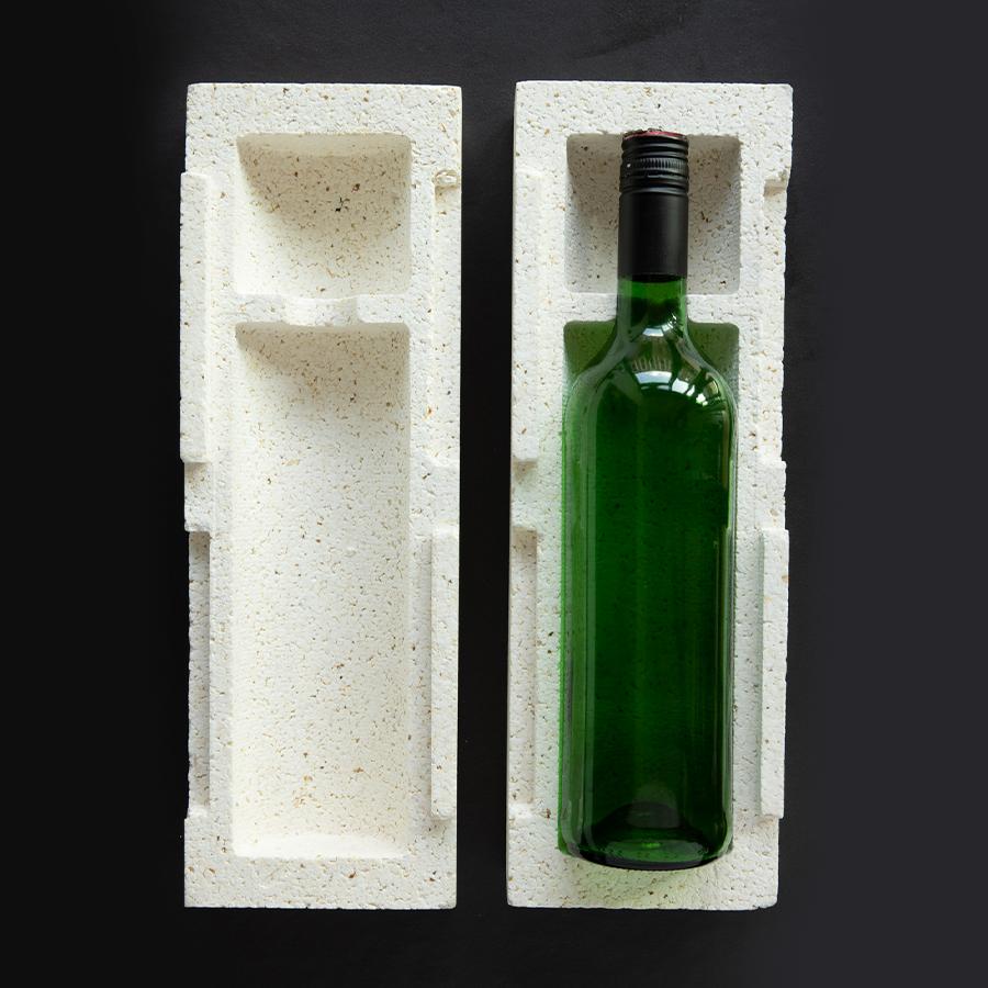 nachhaltige Verpackung für Flaschen